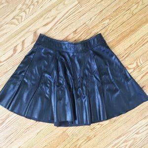 New! Leatherette skater skirt